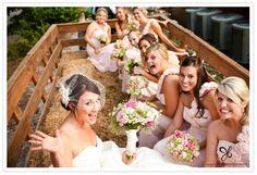 hayride escort at farm wedding