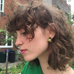 - ̗̀ saith my he A rt ̖́- Short Curly Hair, Wavy Hair, Curly Hair Styles, Curly Mullet, Curly Hair Fringe, Curly Bangs, Cut My Hair, Hair Cuts, Hair Inspo