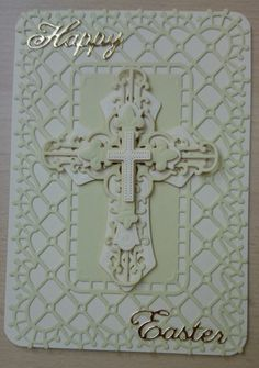 Traditional Religious Happy Easter Handmade card by SarahLouCards