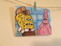 Items similar to Spongebob inspired Dirty Dan and Pinhead Larry digital drawing photo print on Etsy 40 Canvas Paintings for Kids 47 Inspirational Painted Rock Ideas - Gina kirlew Cute Canvas Paintings, Funny Paintings, Small Canvas Art, Mini Canvas Art, Diy Canvas, Spongebob Painting, Spongebob Drawings, Cartoon Painting, Painting & Drawing