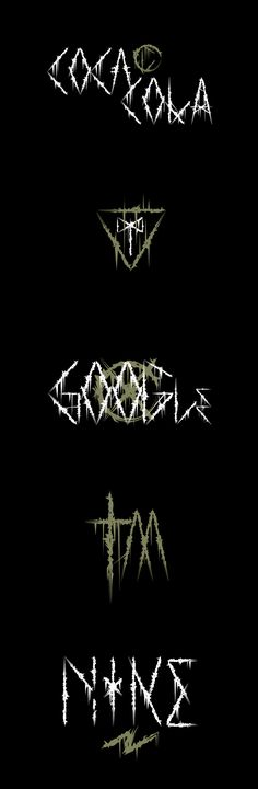 Fonts of Chaos make creative and alternative fonts and typography. We made fonts since Black Metal, Fonts, Typography, Graphic Design, Modern, Logo, Google, Designer Fonts, Letterpress