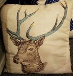 Deer pillow, $25.  Gaslamp Antiques Too, booth T271.