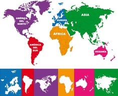 Continents Activities, Geography Activities, Educational Activities, Activities For Kids, World Map With Countries, Asia Map, History Teachers, Montessori Toddler, Sistema Solar