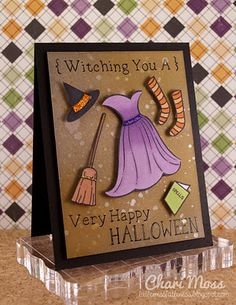 Witching you a Very Happy Halloween: One of my favorite cards I have ever made! Halloween, with no halloween stamp sets.Witching you a Very Happy Halloween: One of my favorite cards I have ever made! Halloween, with no halloween stamp sets. Halloween Signs, Halloween Cards, Holidays Halloween, Happy Halloween, Spooky Halloween, Card Making Inspiration, Making Ideas, Craft Making, Fall Cards