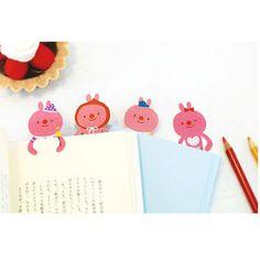 Peek-a-Boo Bookmarks - Pink Rabbit