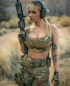 Sexy and Hot Military Girl – Army Women Mädchen In Uniform, Female Army Soldier, Vrod Harley, Girl Photo Gallery, Military Women, Military Female, Military Girl, Warrior Girl, Black Bralette