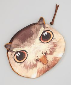 Look at this Bubbly Bows Brown Owl Coin Purse on #zulily today!