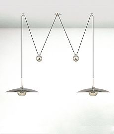 ONOS 55 D Adjustable Pendant Lamp, double pull