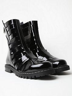 Gareth Pugh Men's Strapped Boots in black at oki-ni