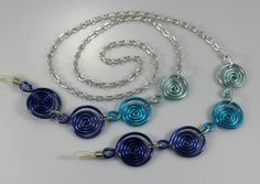 Eye Glass Holder  The Blue's Cascading Spirals by melissawoods, $30.00