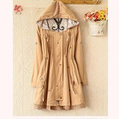 Buy 'Ringnor – Lace-Hem Embroidered Pintuck Hooded Jacket' at YesStyle.com plus more China items and get Free International Shipping on qualifying orders.
