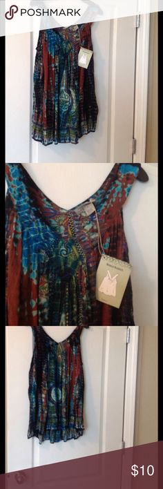 World Market Faraa boho tank size S/M Flowy and colorful tank by World Market. Made in India. 100% rayon. Size says S/M world market Tops Tank Tops