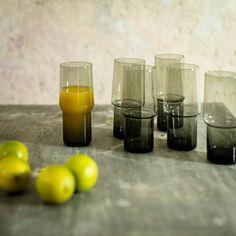 Handgemachte Trinkgläser aus Rauchglas, im Set à 6 Gläser Wine Glass, Tableware, Shun Cutlery, Drinking, Dinnerware, Dishes