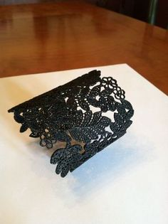 Stella and Dot Chantilly Lace Cuff in Black - Limited Edition