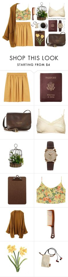 """""""you give me butterflies"""" by ahvela ❤ liked on Polyvore featuring Les Prairies de Paris, Royce Leather, The Bridge, Goody, LSTN, women's clothing, women's fashion, women, female and woman"""