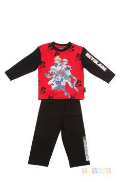 Pyjama Garçon Beyblade noir https://twitter.com/Tolukicom #enfant #pyjama