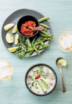 A soup recipe rich with the flavors of Thailand—coconut milk, ginger, and lime.