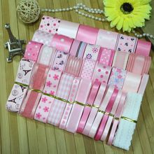 Alta qualidade DIY fita --- rosa princesa ribbon ( total de 35 jarda )(China (Mainland))