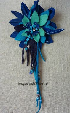 Hand made leather brooch. by JEWELLERYQUEENGIRL on Etsy, $22.00