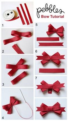 "Ways To Make Fancy Bows ""Back To School Cards with Bow Tutorial - Pebbles, Inc."", ""Bow Tutorial by Mendi Yoshikawa Yoshikawa"", ""Best bow tutorials -"