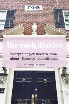 Everything you need to know about sorority recruitment from a girl who's been there! - The College Life Stylist