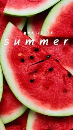 Summer, watermelon! Best memories of my Gramma and Granpas front step. Spitting out seeds with my cousins