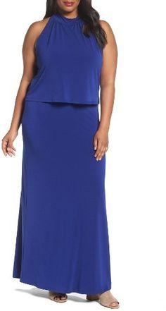 8e314a5302 Plus Size Women's Leota Skyler Floral Jersey Maxi Dress Plus Size Maxi  Dresses, Dress Online