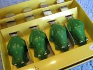 Price $12.00 - Set of 4 Whimsical Cocktail Stainless Spreader Knives - Froggies Doing some Summertime Entertaining Thisis a set of 4 spreading knives, imported by Boston Warehouse.What makes them so special is thatthe handlesare shaped like adorable green froggies - complete with their big bug-eyes and wartsA tota...