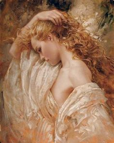 """""""The Golden Shadow"""" by Bruno Di Maio ooohhh so beautiful and gorgeous Academic Drawing, Famous Portraits, Foto Art, Beautiful Paintings, Oeuvre D'art, Female Art, Painting & Drawing, Amazing Art, Awesome"""