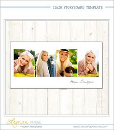 Sister Photography Storyboard Template By Photographertemplate