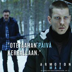 Joskus puhuminen auttaisi.  ARMOTON MAA elokuvateattereissa 20.1.         @nordiskfilmfinland