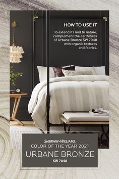 Bedroom Paint Colors, Paint Colors For Home, Urbane Bronze Sherwin Williams, Bronze Bedroom, Sherwin William Paint, Living Room Paint, Color Of The Year, Bedroom Sanctuary, Diy Painting