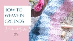 How to weave in ends on a corner to corner (c2c) crochet blankets. C2c Crochet Blanket, Crochet Pillow, Tunisian Crochet, Learn To Crochet, Crochet Stitches, Free Crochet, Crochet Hats, Crochet Blankets, Knitting Patterns Free