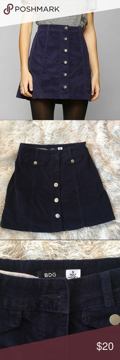 Urban Outfitters A-line skirt. Perfect condition Urban Outfitters corduroy A-line skirt with buttons down the front. Perfect condition. Urban Outfitters Skirts