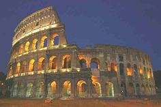 The Roman Colluseum in Rome. Its super old and it is still standing!