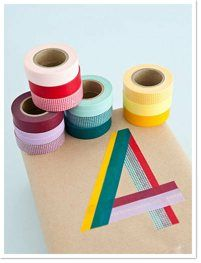Colored Masking Tape Gift Wrap [Washi Tape] via  ~ Be Different...Act Normal | Clipboard