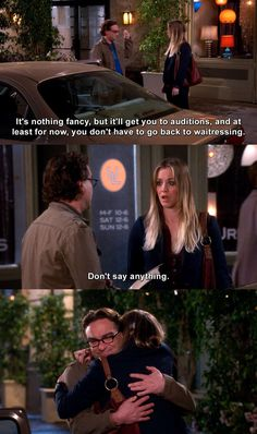 The Big Bang Theory - Leonard Hofstadter: It's nothing fancy, but it'll get you to auditions, and at least for now, you don't have to go back to waitressing. Don't say anything. Leonard And Penny, Big Bang Theory Funny, Leonard Hofstadter, Movie Facts, Say Anything, Most Romantic, Bigbang, Bangs, Movie Tv