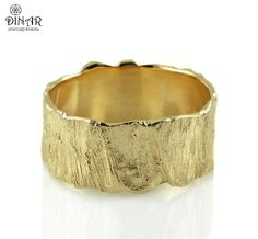 b8777e4da53 Items similar to Hammered bark texture wide organic style branch ring