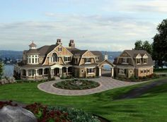 shingle style coastal home- beautiful. Future House, My House, Farm House, House Front, Villa Architecture, House Ideas, Big Houses, Dream Houses, House Goals