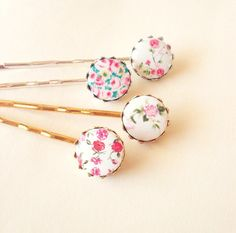 Hey, I found this really awesome Etsy listing at http://www.etsy.com/listing/85700527/floral-bobby-pins-floral-hair-pins