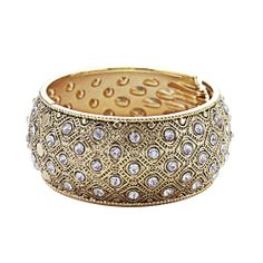 Eye catching bangle with fully encrusted silver crystals. Bangles, Bracelets, Decorative Bowls, Eye, Crystals, Silver, Charm Bracelets, Charm Bracelets, Money