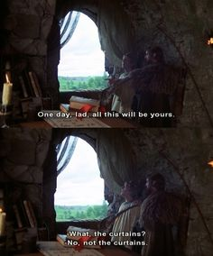 "18 Glorious Moments From ""Monty Python And The Holy Grail"" Which, if you didn't know, is the best movie of all time. Tv Quotes, Movie Quotes, Funny Quotes, Lyric Quotes, Thrasher, Monty Python, Look Here, Fandoms, Film Serie"