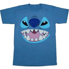 Disney Lilo and Stitch Big Face Costume T-shirt: This T-shirt features a giant Stitch face that may help you find your Lilo. Makes a great costume or just fun to wear. Lilo And Stitch Shirt, Lilo And Stitch Costume, Lilo Stitch, Disney Stitch, Halloween Costumes For Teens, Family Costumes, Giant Stitch, Disney Shirts For Men, T Shirt Costumes
