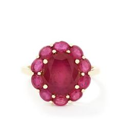 <strong>6</strong> - 7.39ct Madagascan Ruby 9K Gold Ring (F)