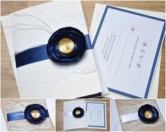 Handmade Lace Wedding Invitations Bridal Shower von KubisCraft