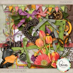 Spring has Sprung Kit by #AimeeHarrison.  It's gorgeous and I have to have it. $3.59 #regularPrice @Digital Scrapbooking Studio