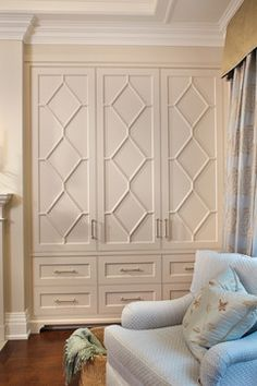 Bedroom Built In Design Ideas, Pictures, Remodel, and Decor - page 63 I like the look of these doors (maybe in natural wood) for hallway closet doors