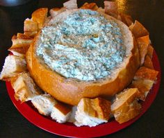 Best spinach dip! (No mayo) 4 ounces of cream cheese 1 1/2 cups sour cream 1 package (10 oz.) frozen spinach, thawed and dried 1/2 - 3/4 cup freshly grated Parmesan cheese 1 envelope dry vegetable soup mix, Knorr makes a good one 1 tsp. garlic