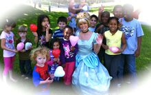 Cinderella added a touch of magic to this birthday party! www.DreamComeTrueParty.com