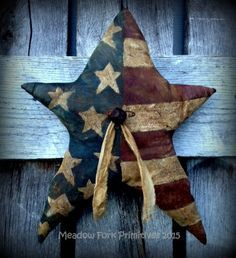 Primitve Americana, Americana Prims, Americana Star, Americana Crafts, Prim Crafts, Primitive Fourth, Primitive Summer, Primitive Holidays, Primitive Style